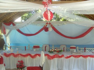 Typical Jamaican: the wedding table